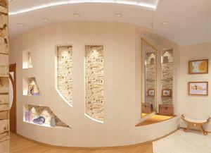 Основные нюансы обустройства декоративной стенки из гипсокартонных листов