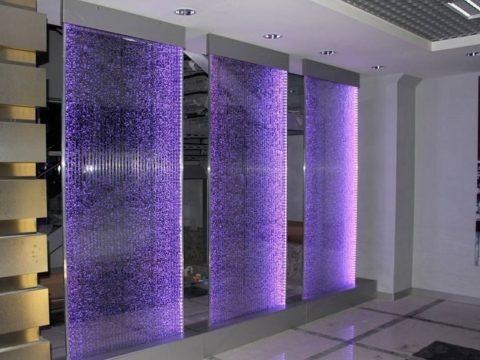 Водопад по стеклу видео